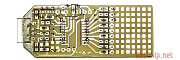 Плата преобразователя UART to USB для ATtiny2313