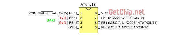 Программый UART в ATtiny13