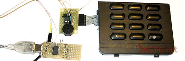 Старая клавиатура с драйвером и преобразователем