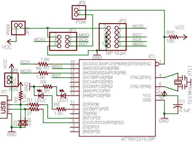 и схему USB программатора