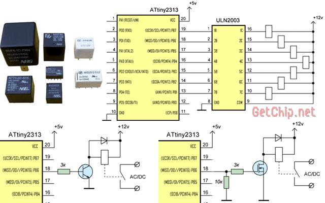 5) Мосфет irfz44 , реле из закромов на 12 в. Резисторы подобрал из того что было - проверил схему на столе на...
