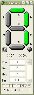 نرمافزار برای نمایش 7سگمنت